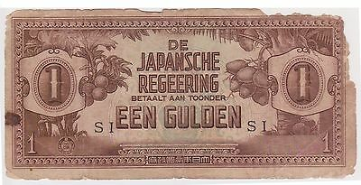 (N3-172) 1942 Japan invasion EEN GULDEN (space filler) bank note (Q)