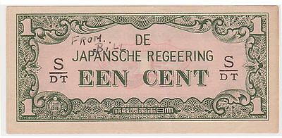 (N3-155) 1942 Japan invasion one cent bank note (space filler) (B)