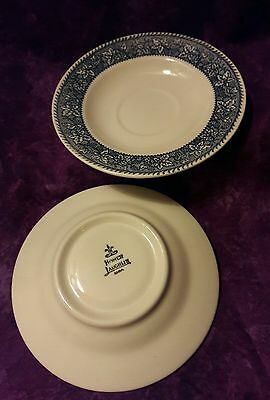 Homer Laughlin -  SHAKESPEARE COUNTRY BLUE  Saucers Lot of 2 GUC