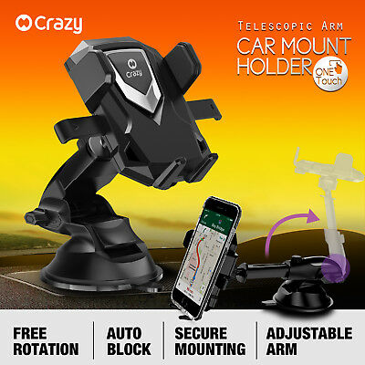 Crazy Universal Car Mount Phone Holder Cradle Stand GPS for iPhone Samsung HTC