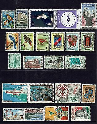 Malagasy  Collection Of Various Stamps