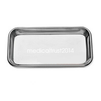 1 PCS Dental Stainless Steel surgical Medical Tray Lab Instrument High Quality
