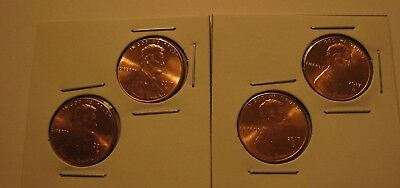 2 sets of 2017 P&D Lincoln cent pennies BU -YOU GET 4 COINS