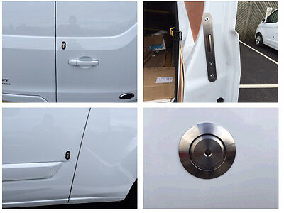 Ford Custom 2012> Rear Van Security Deadlock Kit And Hykee Lock With Bezel
