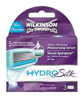 Wilkinson Sword Hydro Silk Blade Refills 4 Packs Of 3 - 12 Shaving Razor Blades
