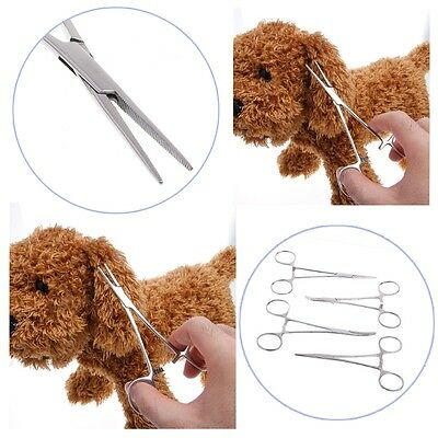Pro Dog Cat Haemostatic Tool Ear Cleaning Pliers Pet Forceps Hair Clamp Tweezers