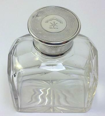 William IV Silver-lidded Glass Dressing Cologne/Scent Bottle with Crest–1836 (2)