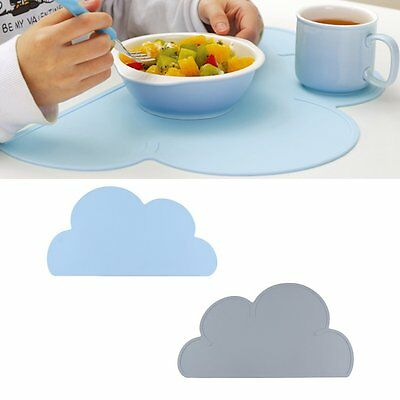 Lovely Cloud Shape Silicone Placemat Heat Resistant Mat Non-Toxic For Childrenbg