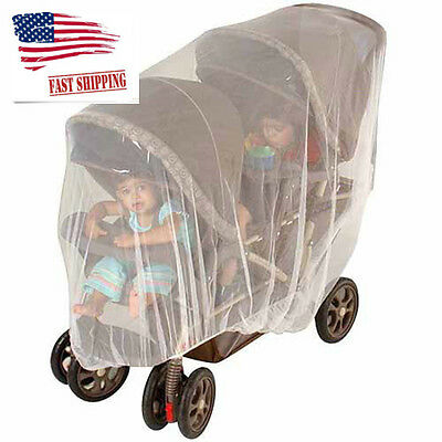 Jeep Double Stroller Mosquitoes and Insects Netting, Extremely Durable with Bag