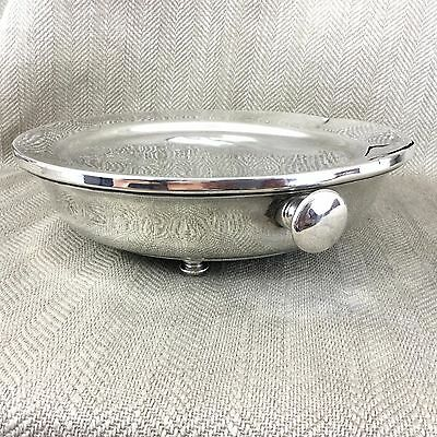 Antique Old Sheffield Silver Plated Hot Water Warming Chafing Dish Plate Stand