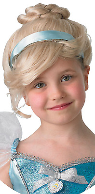 Girls Disney Princess Official Cinderella Fancy Dress Costume Outfit Wig