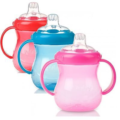 Nuby Baby Easy Grip N Sip Toddler Non Spill Silicone Spout Leak Proof 240ml Cup