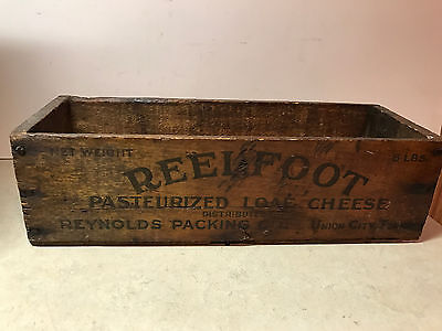 Old 5Lb Reelfoot Wood Cheese Box Reynolds Packing Co.  Union City Tennessee