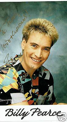 Billy Pearce British Comedian and Entertainer Hand Signed Photograph 6 x 3