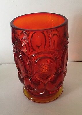 Lg Wright Moon And Stars Amberina Footed Water Tumbler