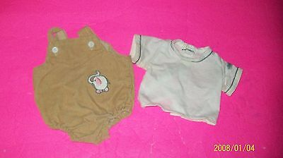 fits CABBAGE PATCH kids  DOLL beige w/shirt  romper coleco