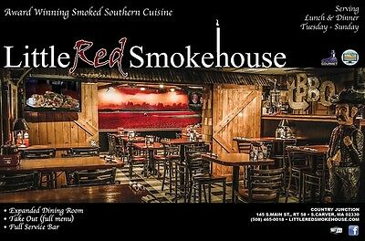 Little Red Smokehouse 25$ gift certificate 145 s main st Carver, MA