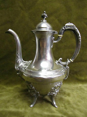 early 20th c french sterling silver (minerve 950) coffee pot Louis XVI st 495gr