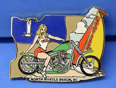 Hooters Girl North Myrtle Beach Sc Green Motorcycle Puzzle Lapel Pin