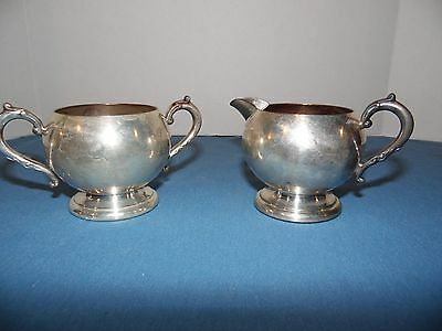 Vtg. Gregg Silver Co. Ep.c. Electroplated Copper Cream & Sugar Set