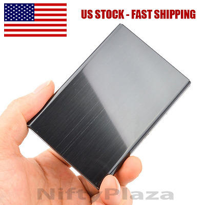 RFID Blocking Credit Card ID Holder Slim Money Men Travel Wallet Stainless Steel