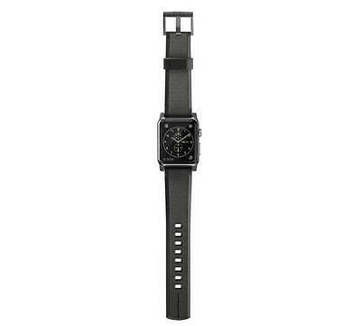 Nomad - Silicone Watch Strap for Apple Watch 42mm - Black with Black Lugs - VG