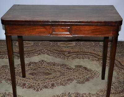 Antique Victorian Mahogany Folding Card Table - FREE Shipping [PL2027A]