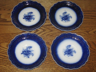 W. H Grindly,england Blue Rose Saucers