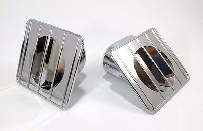 67-72 Chevy GMC Truck Chrome Inside Dash Defroster Duct Vents Right Left Set