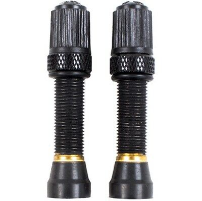 (Pair of) SCHRADER Tubeless Valves with Removeable Core  45mm for MTB