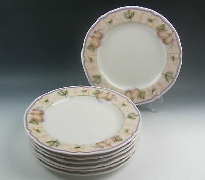 Lot of 7 Noritake China ASPEN GROVE Dinner Plates MIXED CONDITION
