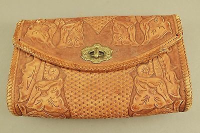 Handmade Western Leather Purse Hand Tooled Vintage Antique 1920's 1930's Quality