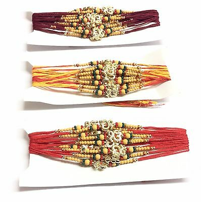 12Rakhi Thread Raksha Bandhan Hindu/sikh Indian Festival-Wrist Band-12 Rakhi