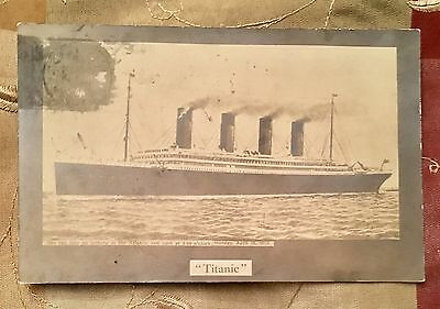 Titanic Postcard May 11,1912 Postmark Stamp White Star Line Maritime Disaster