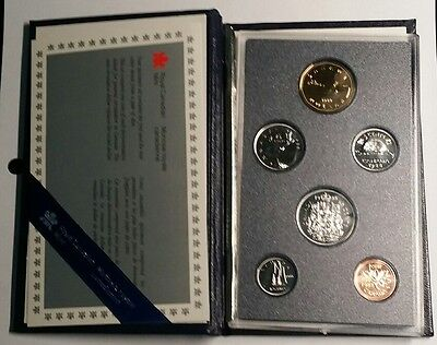 1988 Canada RCM 6 Coin Mint Set  With Original Case & COA Free Shipping!