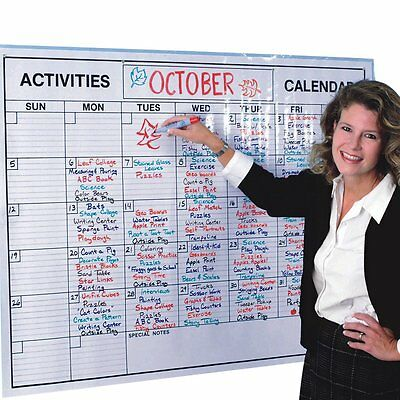Whiteboard Monthly Calendar Planner Jumbo Erasable Reusable Classroom Office