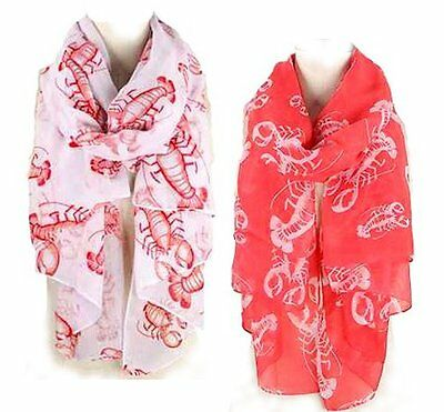 Sea Life series Oblong Scarf - LOBSTER Lot of 2