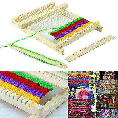 Wood Knitting Loom Yarn Shuttle Comb DIY Educational Toy Gifts Kit
