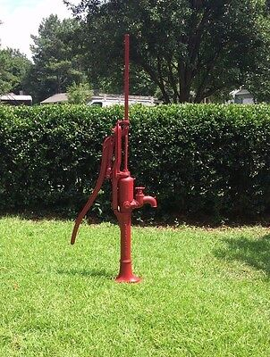 LARGE Antique Cast Iron F.E. MYERS Hand and WINDMILL Water Pump Garden Yard Art