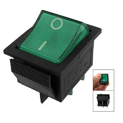 Interruptor Light 4 Pin DPST ON/OFF Snap in Rocker Switch 15A 30A 250V AC