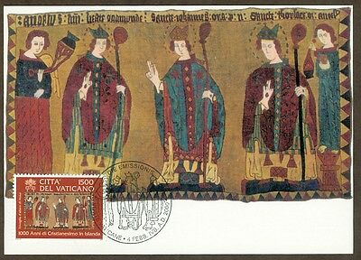 Vatican City Sc# 1151: Millennium of Christianity in Iceland, Maxi Card