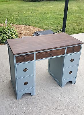 Antique desk. Refinished with chalk paint and waxed. Dovetails. Local pickup