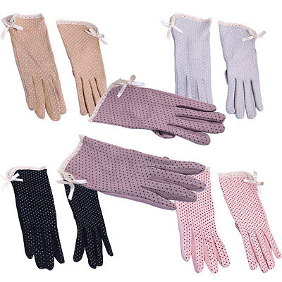 Fashion Nice Women Girl UV Protection Cotton Gloves Driving Gloves