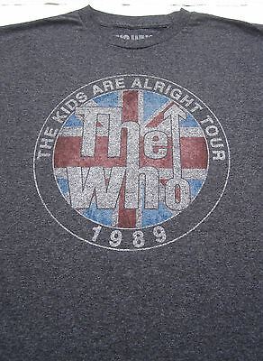 replica THE WHO 1989 tour LARGE T-SHIRT kids are alright concert