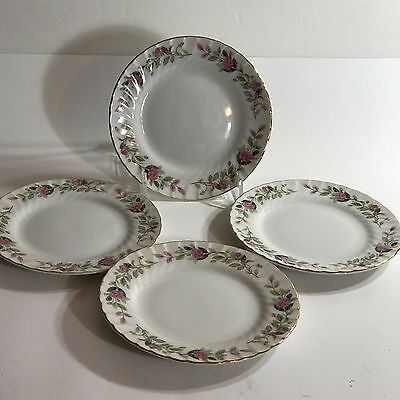 Regency Rose Set of 4 Bread Plates by Creative Fine China Japan 2345
