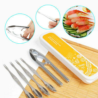 6pcs set forks crackers shellfish lobster crab nutcracker for Kitchen tool set of 6pcs sj