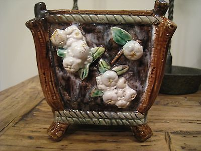 Vintage Majolica Cache Pot Planter *INCREDIBLE* *MARKED*