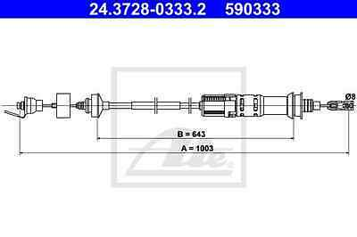 Cable pull Clutch actuation PEUGEOT CITROËN - ATE 24.3728-0333.2