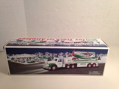 New Hess Toy Truck and Airplane 2002 Lights and Motorized Airplane NIB