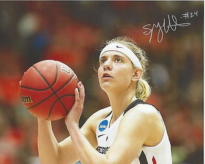SYDNEY WIESE Signed 8 x 10 Photo WNBA Basketball LOS ANGELES SPARKS Oregon State